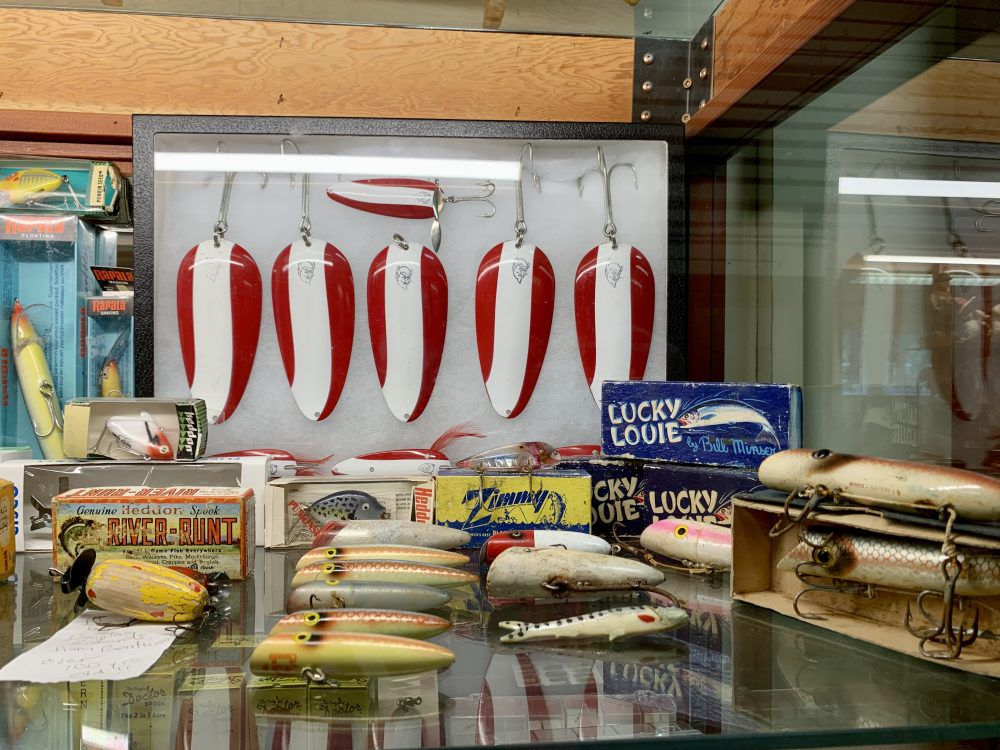 When Jim Shockey was young, he couldn't afford these red-and-white Dardevle lures.