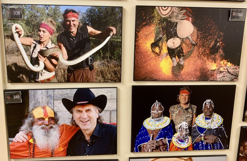 Jim Shockey took all the photos in the museum during his world travels.